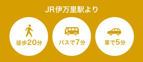 JR伊万里駅より徒歩20分・バスで7分・車で5分